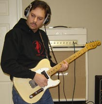 Tom Guerra with his modded '73 Tele